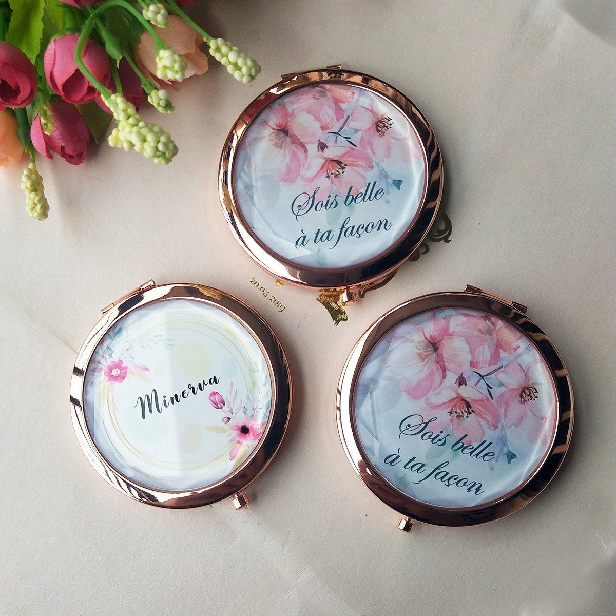 Compact Mirror Bridesmaid Gifts Mirror Bachelorette Party Favors By Janecustomgift Bridesmaid Gift Mirror Bachelorette Party Favors Tropical Bachelorette Party