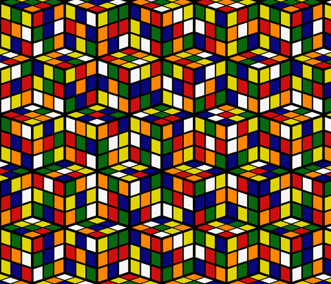 Rubik's Cube Pattern Fabric By Europeanskies On Spoonflower Classy Rubix Cube Pattern