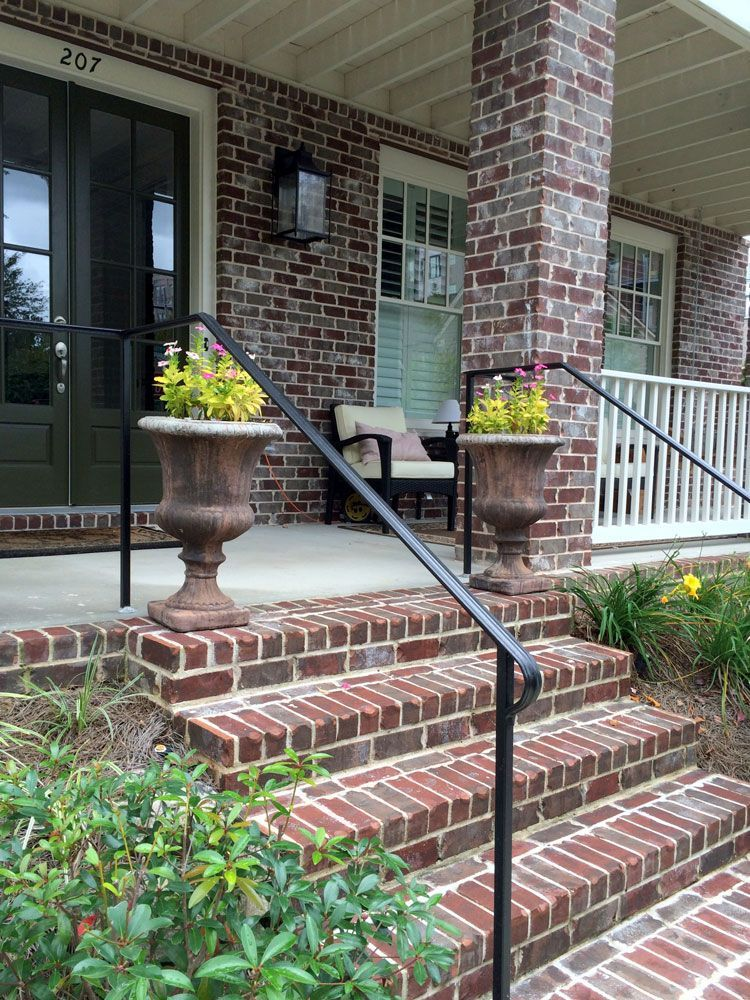 DIY metal porch handrail from Amazon Porch handrails