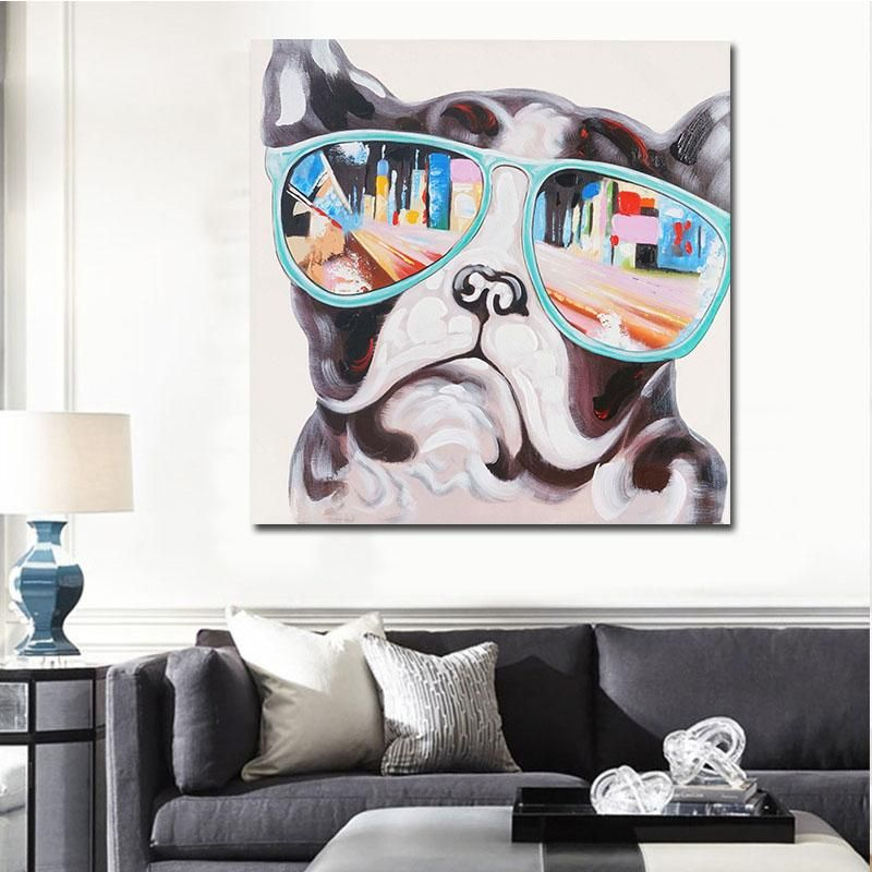 Home Decor Canvas Painting Cute Animal Dog Wall Art Picture Canvas