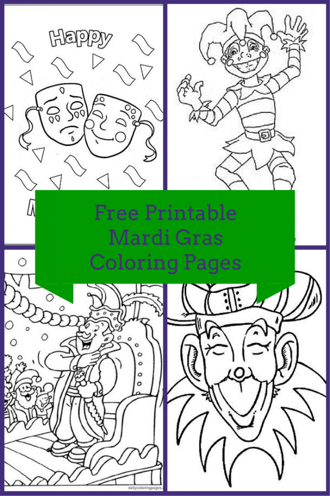 Free Printable Mardi Gras Coloring Pages | Family Life | Pinterest ...