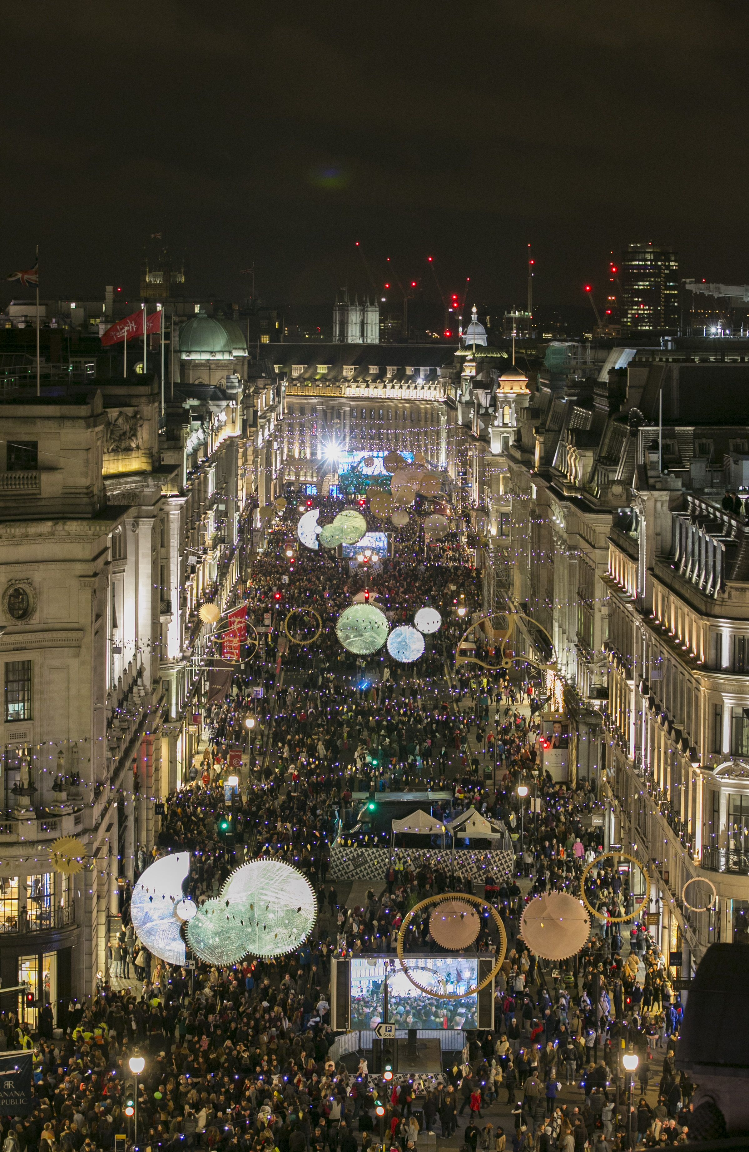 This Year Regent Street Delivered A Spectacular Evening Of Entertainment To Celebrate The Switching On Of Timeless E London Christmas Christmas Lights London
