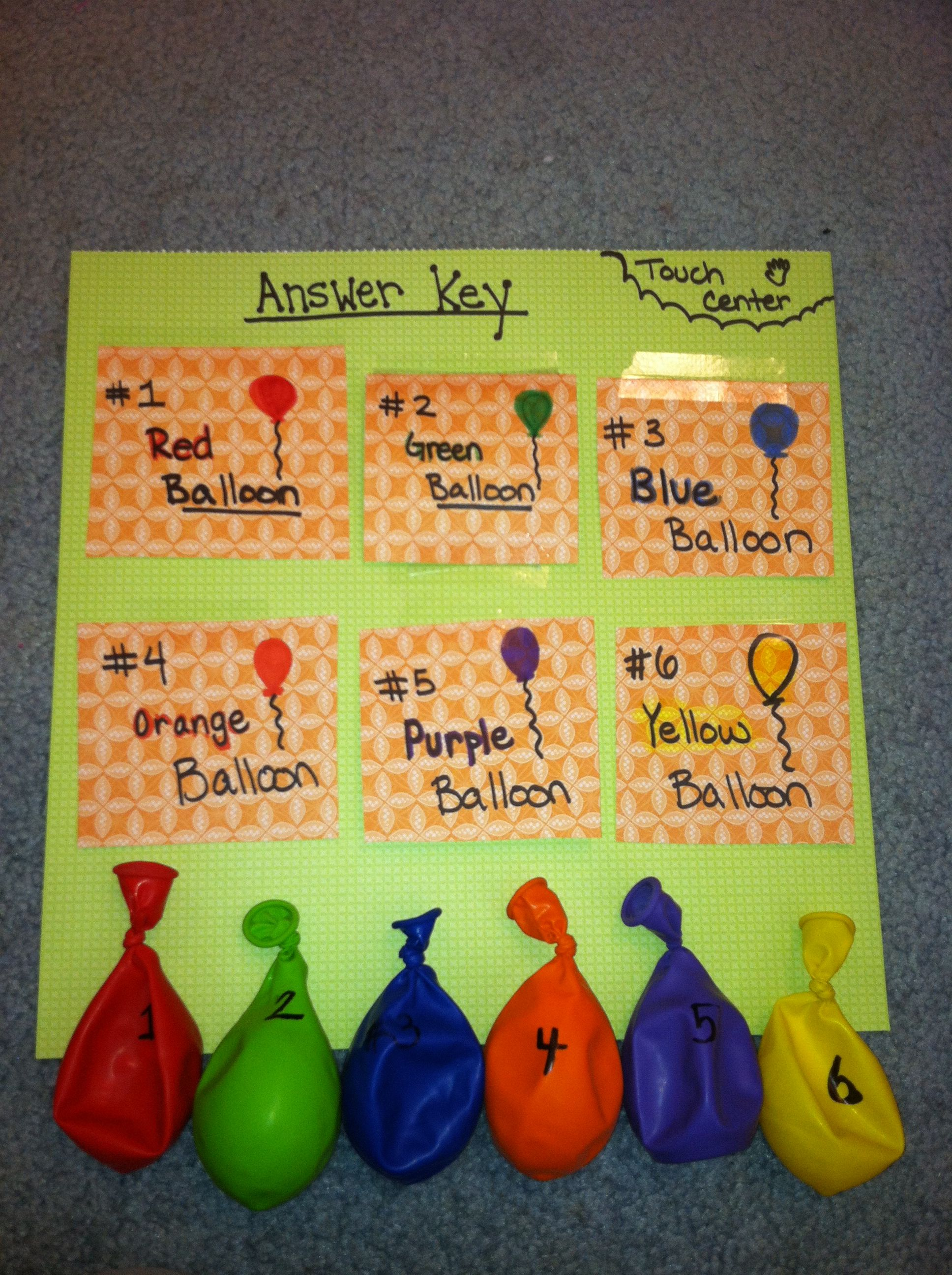 Touch Guessing Center 5 Senses Centers