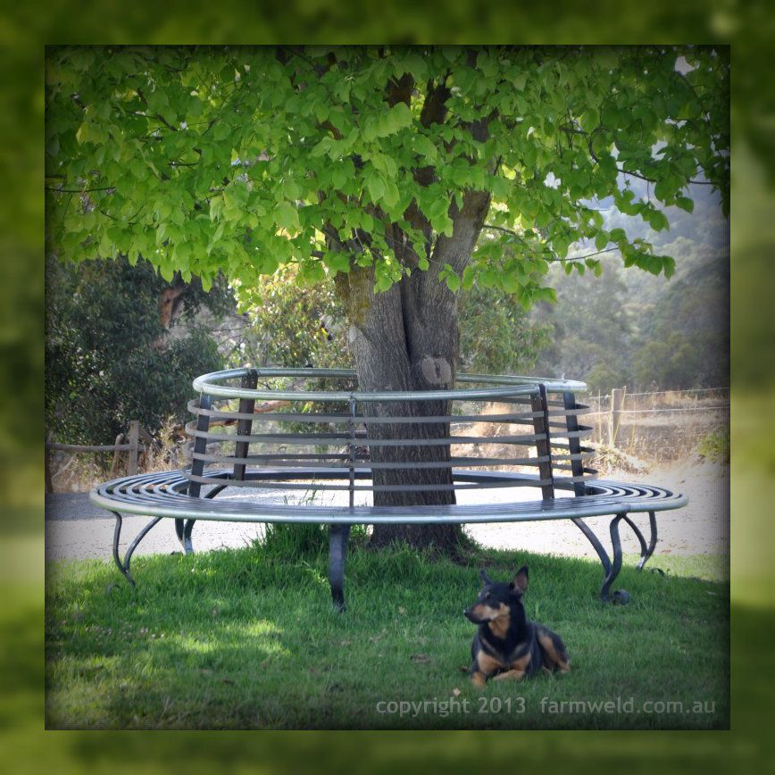 Wrought Iron Tree Seat And Steel Tree Bench Wrought Iron Bench