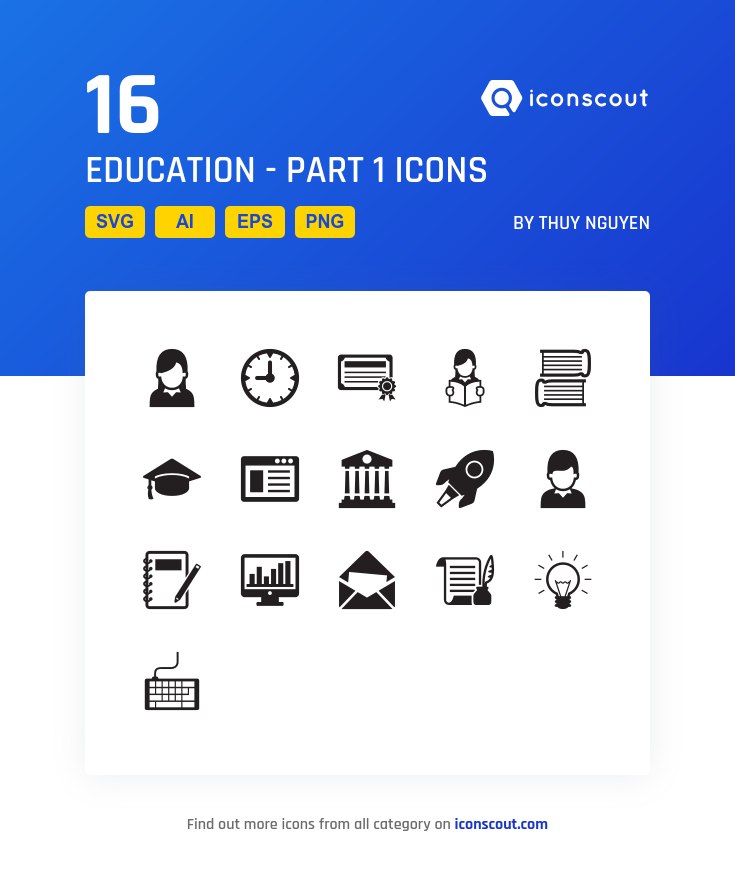 Download Education Part 1 Icon Pack Available In Svg Png Eps Ai Icon Fonts Icon Icon Pack Icon Font