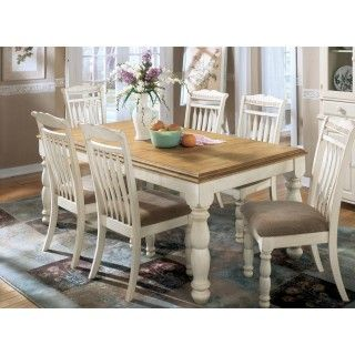 Ashley Furniture Cottage Retreat Rect Dining Room Ext Table With 6