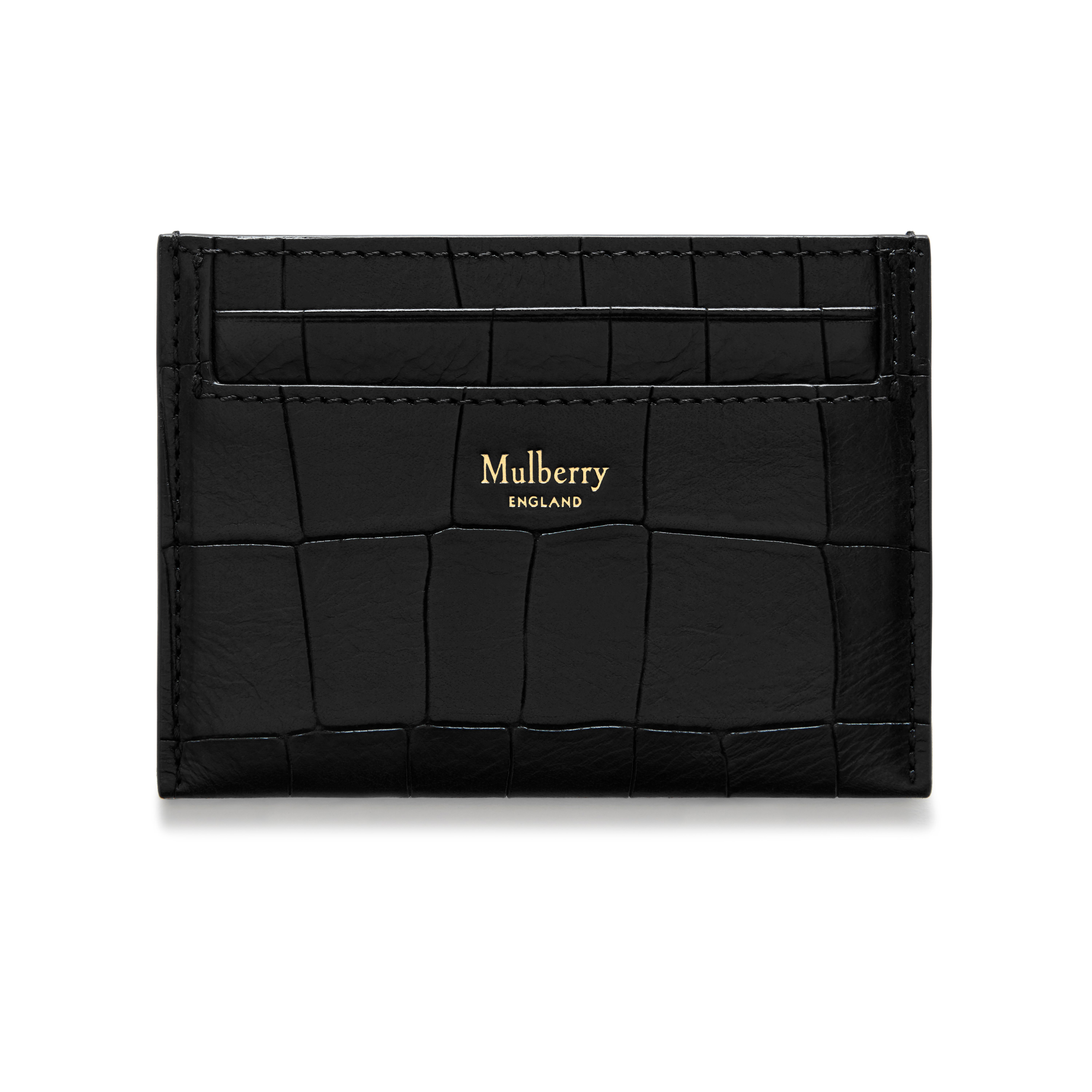Shop the credit card slip in black deep embossed croc leather at shop the credit card slip in black deep embossed croc leather at mulberry a practical design featuring four slots for credit and business cards reheart Gallery