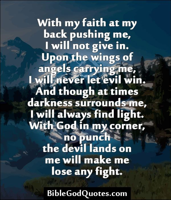 Win Back Love Quotes: BibleGodQuotes.com With My Faith At My Back Pushing Me, I