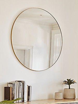 Oversized Frame Mirror - Soft Gold