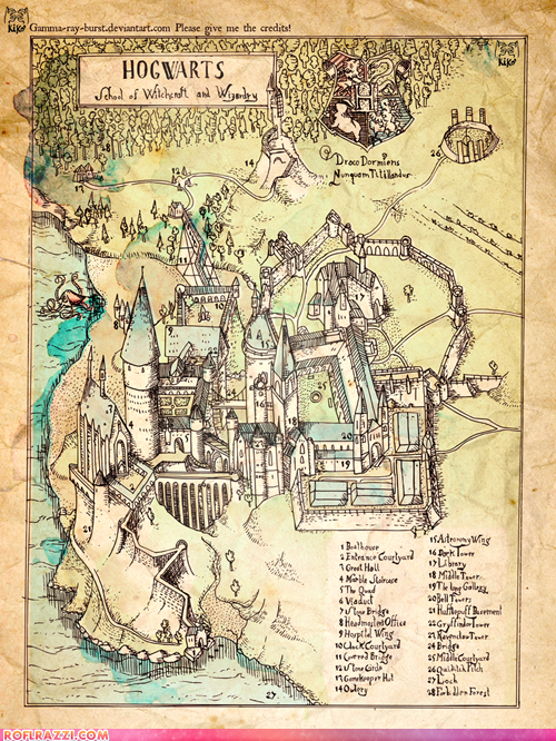 Hogwarts: The Illustrated Map in 2018 | Things I Will Eventually ...