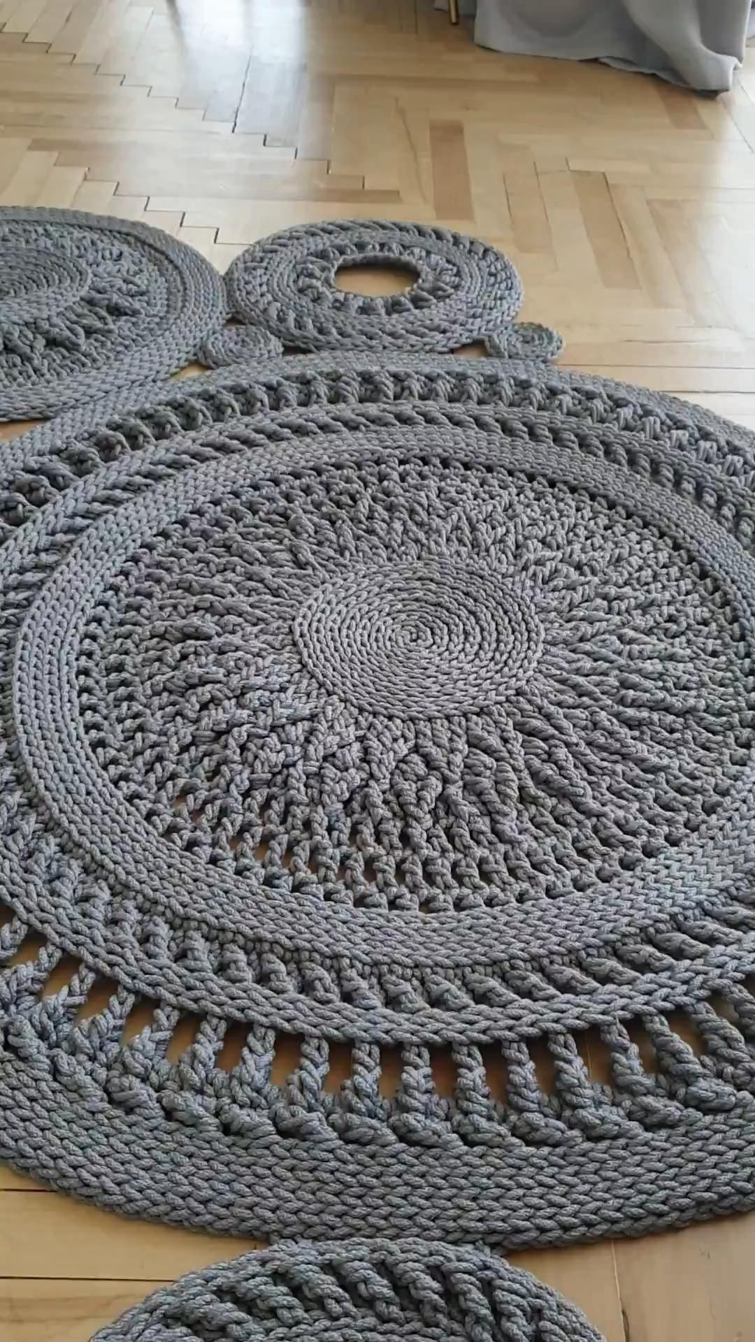 Crochet rug pattern. Craft home decor