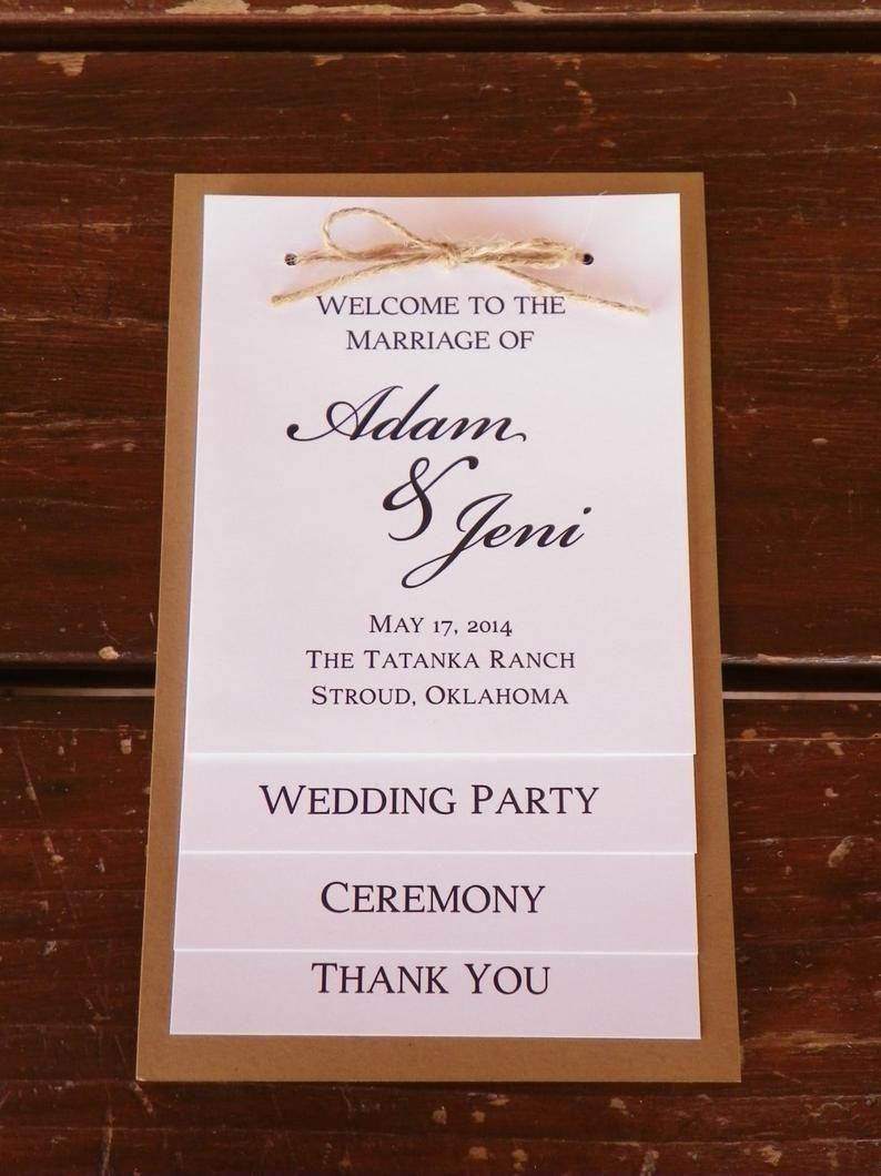 Tiered Wedding Program Party