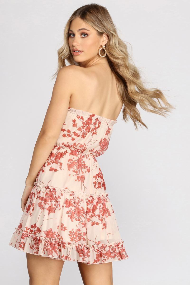 Flower Up Strapless Skater Dress Dresses Skater Dress Skirt Fashion [ 1200 x 800 Pixel ]