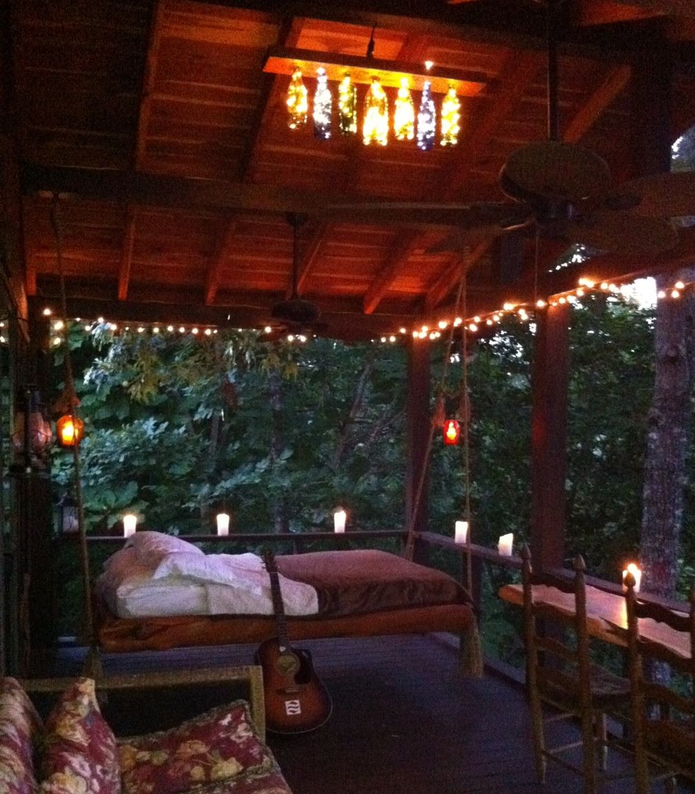 Hanging Bed Porch Lighting Back Porch Outdoor Bed