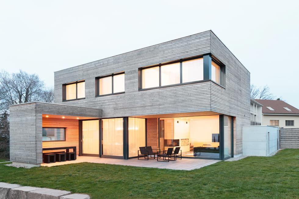 maison moderne à toit plat Architecture Maison Pinterest - construction maison terrain en pente