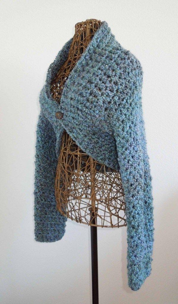 No Seam Shrug Free Crochet Pattern | Tejido - Ropa y Bufandas ...