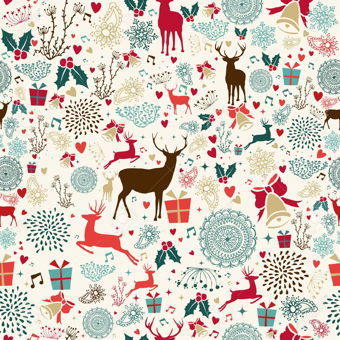 retro christmas wallpaper - Google Search | Christmas Art & Prints ...