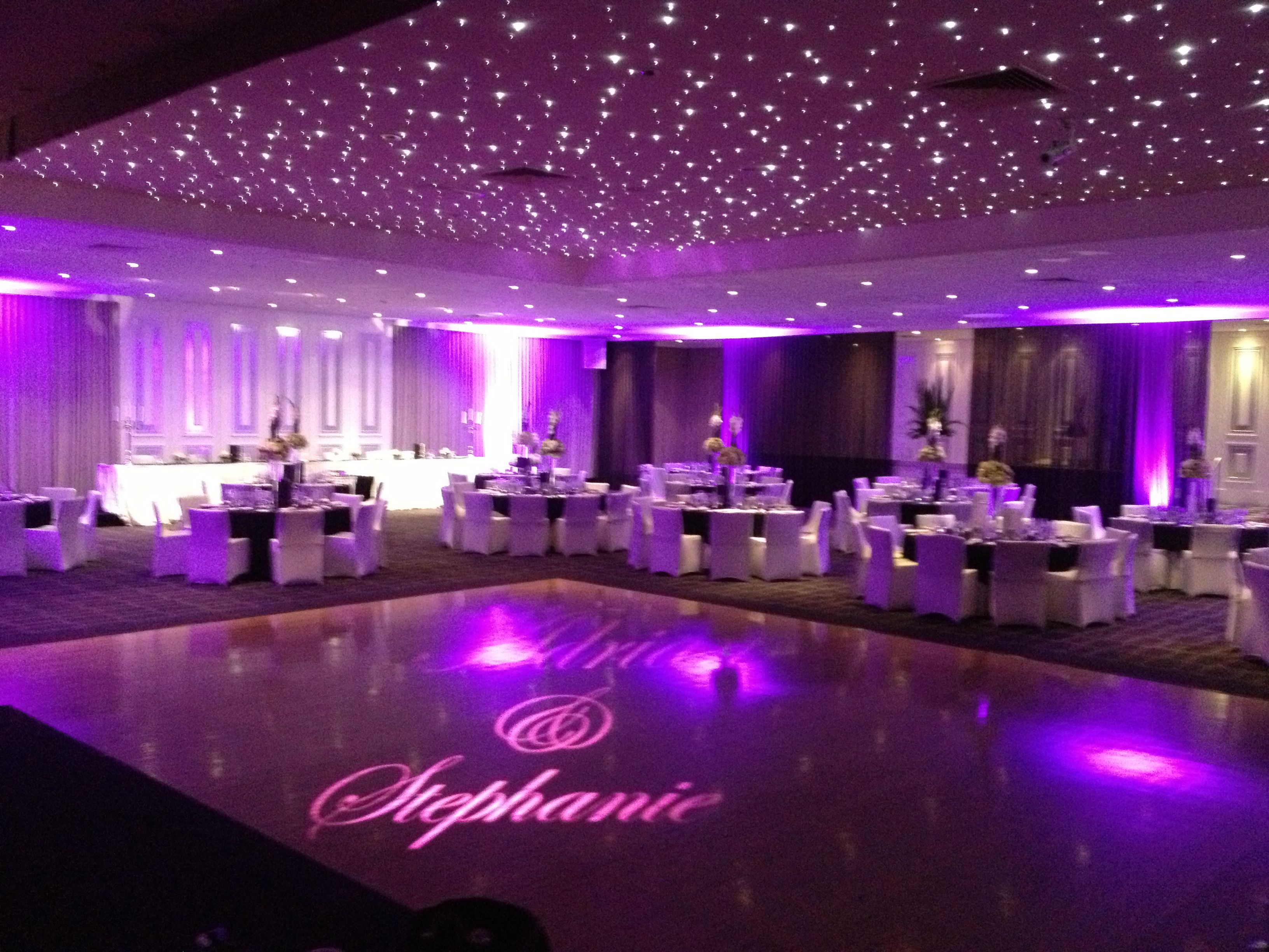 A starry night can come in any colour you want with our personalized projections and up lighting
