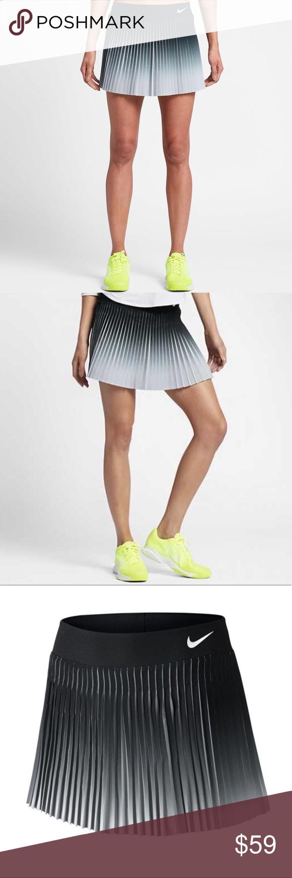 Nike Court Flex Victory Skirt Nwt Gray Black Pleated Tennis Skirt With Black Shorts Underneath This Skirt Has Pleated Tennis Skirt Tennis Clothes Nike Skirts
