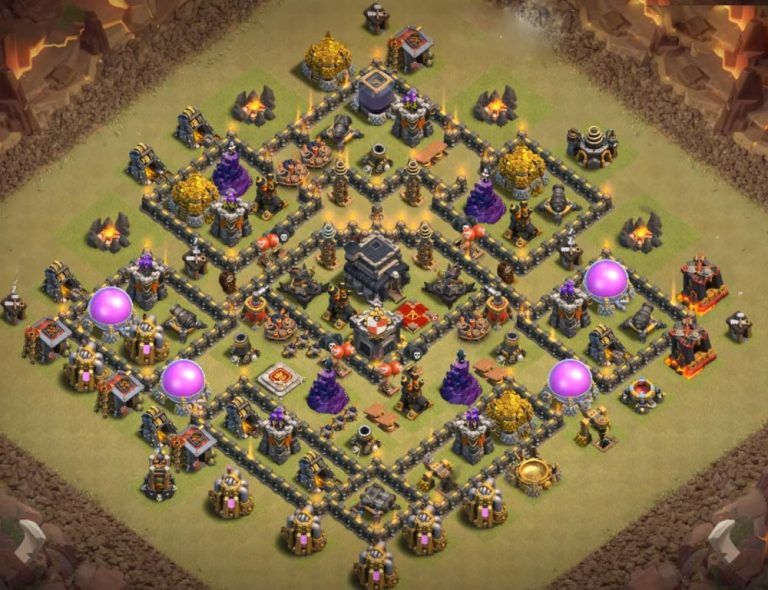 Best Th9 War Base Layout 4