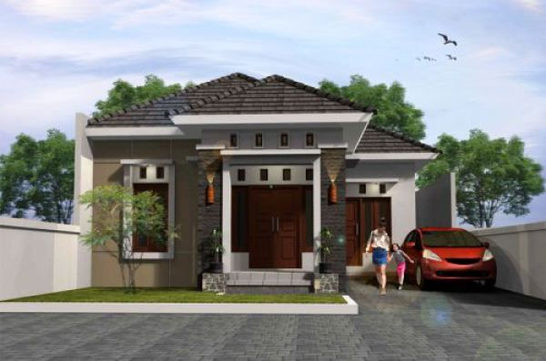 Gambar Rumah Minimalis  Lantai Tampak Depan Dan Warna Cat Pilihan