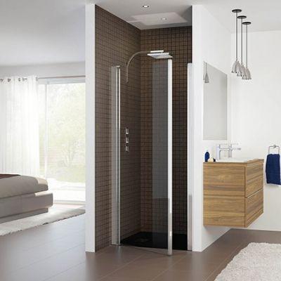 Porte pivotante sans seuil Salle de bain/douche Pinterest - Salle De Bain En Siporex