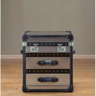 Lazzaro Leather General Steamer End Table U0026 Reviews | Wayfair. Trunk Table