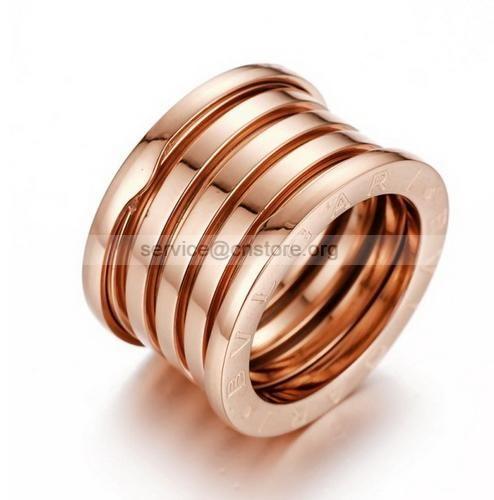 Bvlgari False Bzero1 5 Of 18k Rose Gold Ring Band For Sale