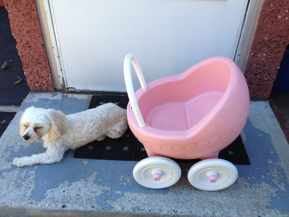 1984 Large Little Tikes Pink Buggy Baby Doll Stroller