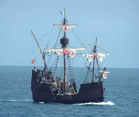 Santa Maria De Colombo Wooden Ship Portugal Sailing Sailing Ships Tall Ships