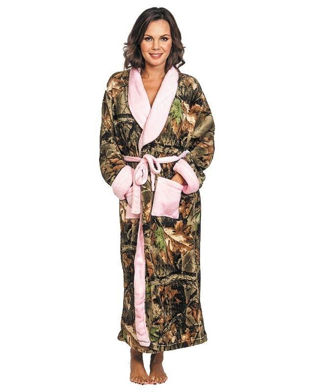 Cozy Women s Camo House Robe with Pink Trim  Camo  LadiesCamo  WomensCamo   WomenHunting  Cozy 18eab5a10