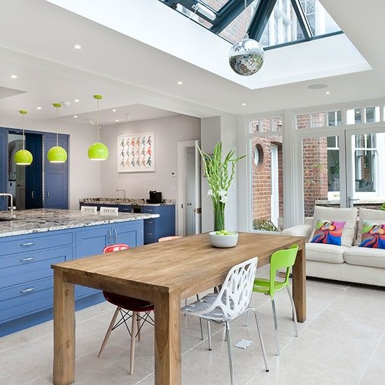 Open-plan kitchen design ideas   Skylight, Open plan kitchen and ...