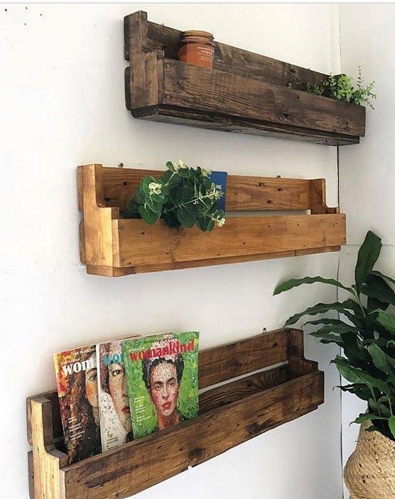 Wooden Pallet Wall Decor Shelf Art Pallet Pallet Shelves Wooden
