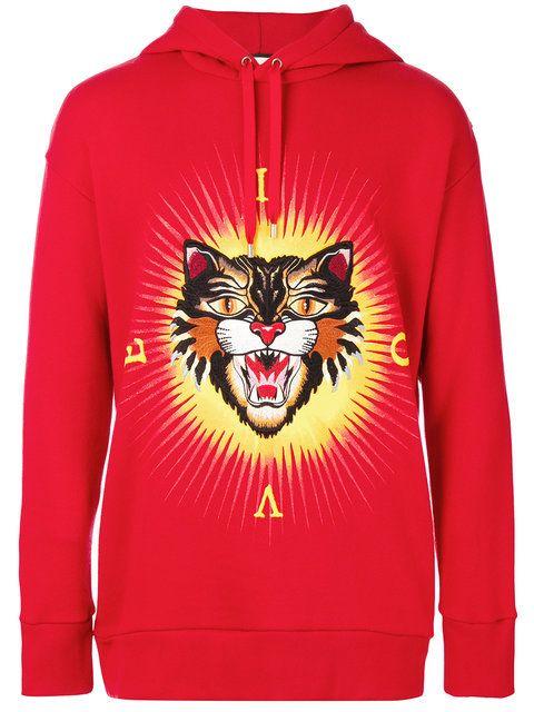 4245609a40c  gucci  cloth  hoodie Cat Applique