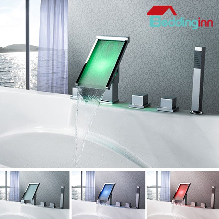Fancy LED color changing bathtub faucet, so amazing Buy link-->http ...
