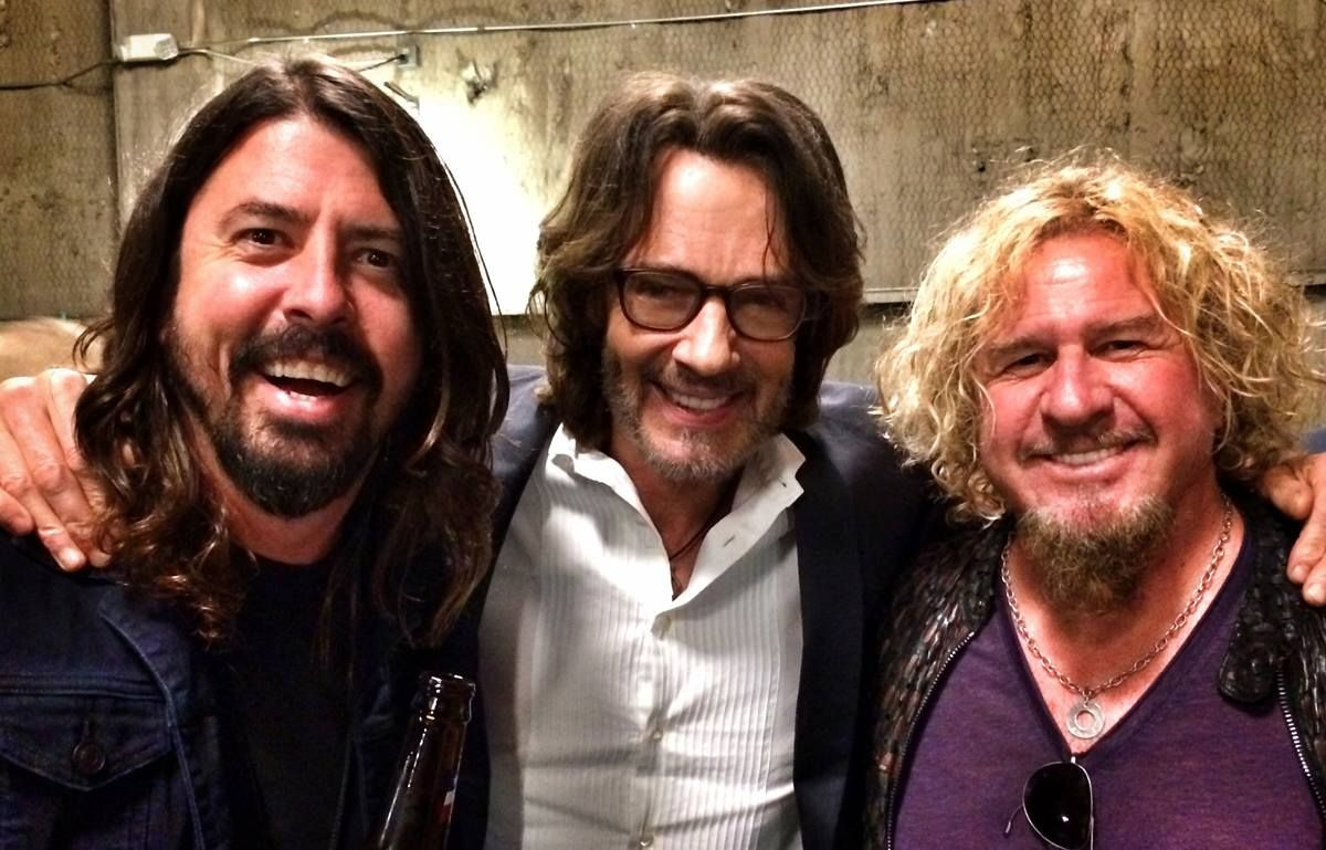 Dave Grohl Rick Springfield Sammy Hagar At Last Nights Finale Of Chelsea Lately Foo Fighters Dave Grohl Rick Springfield Foo Fighters