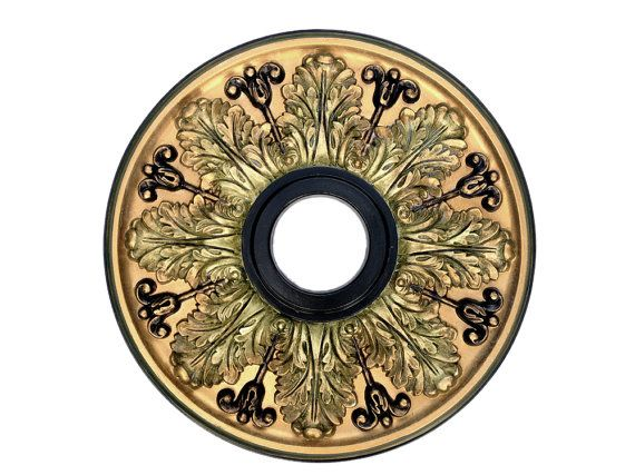 Ceiling Medallion, VERONA, custom painted in metallic gold ...
