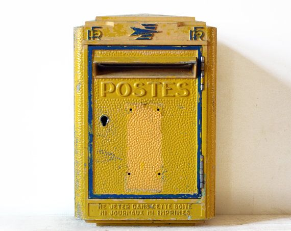 ORIGINAL French La POSTE  1967 Cast iron  Mailbox  Mid century Model Loft deco on Etsy, $395.00