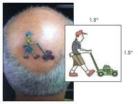 Lawn Mower Man Temporary Tattoo Realistic Temporary Tattoos