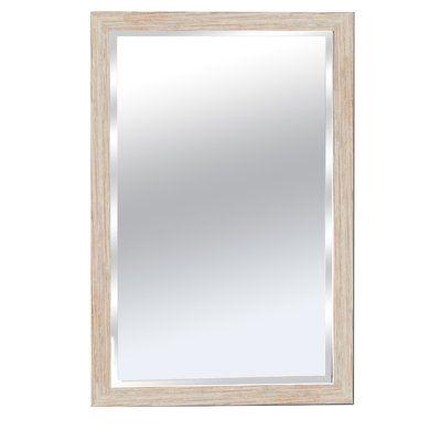 Winston Porter Cocopah Wood Framed Bathroom Wall Mirror Lighted Wall Mirror Mirror Wall Bathroom Mirror Wall Bedroom