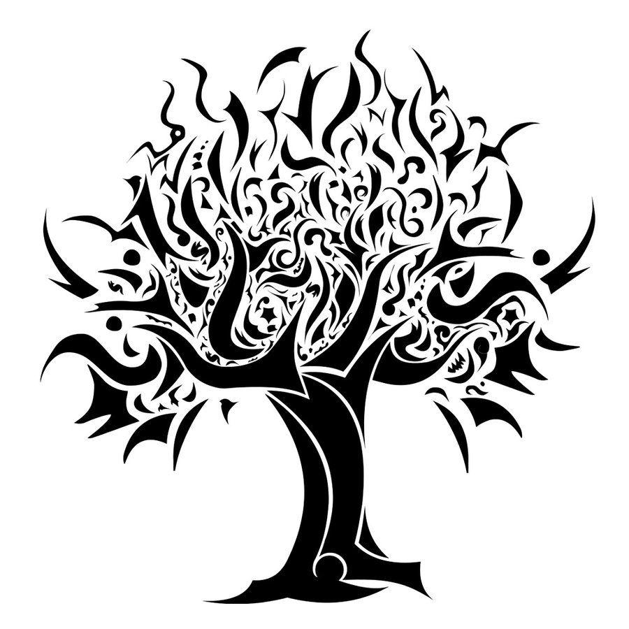 tribal tree tattoo s pinterest tattoo and body art rh pinterest co uk tribal palm tree tattoo tribal tree tattoo meaning