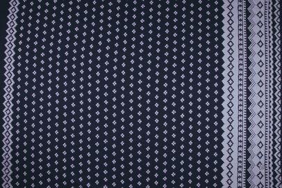 FW11166C Black  Nicole Miller Border Print Mood fabrics