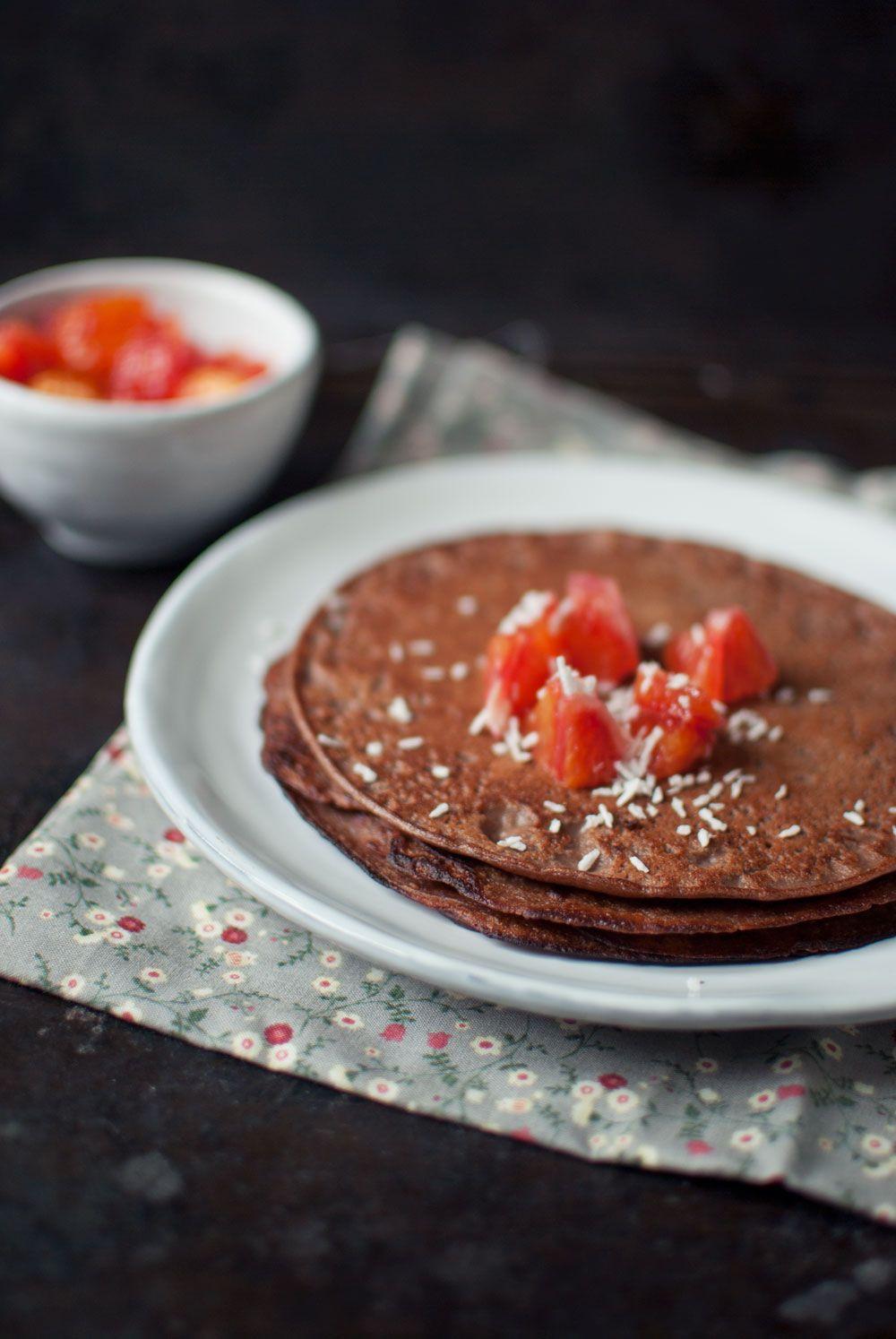 Pandekager Med Chokolade Nem Og Laekker Opskrift Chokolade Mad Ideer Dessert