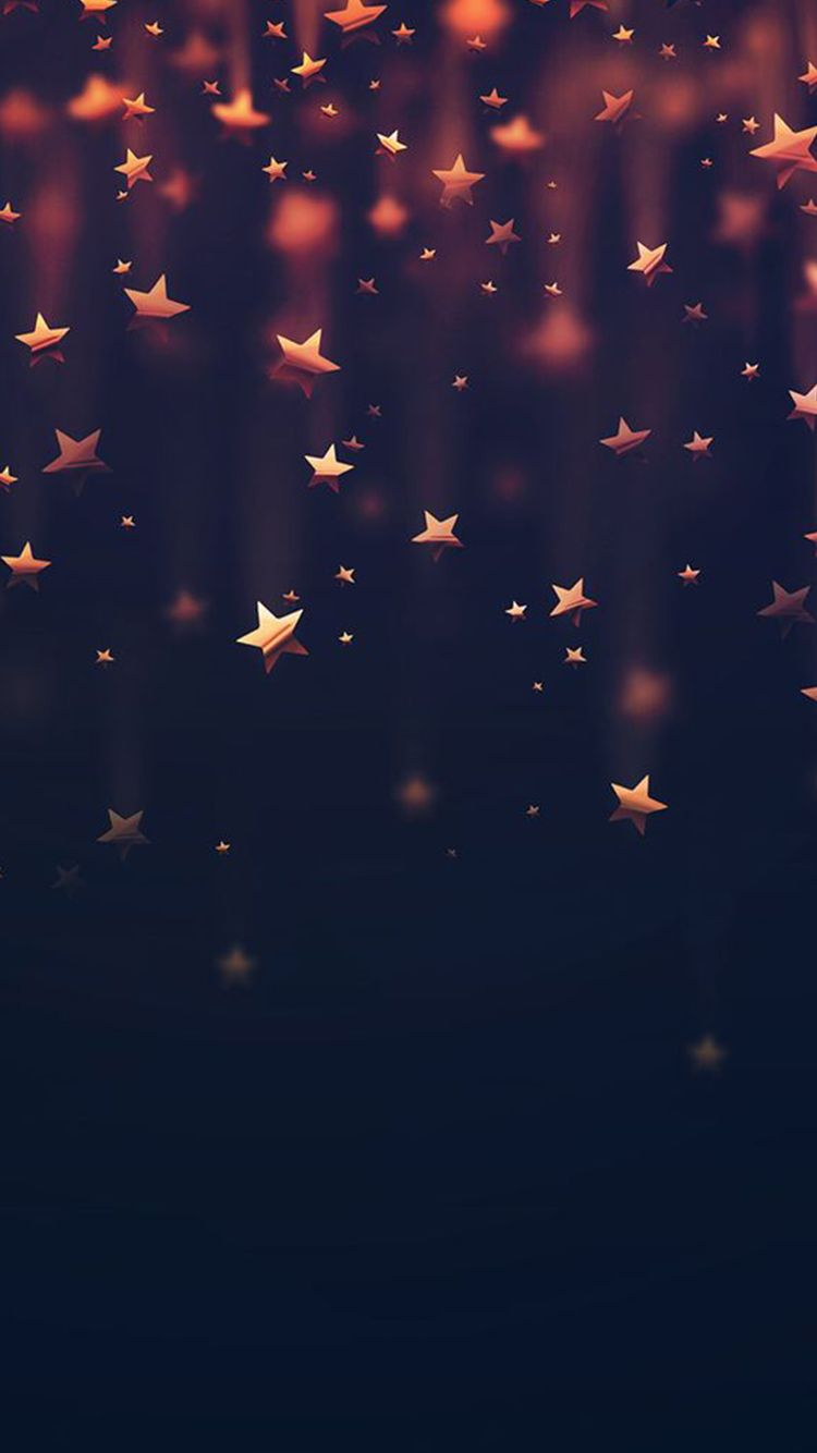 Golden Falling Stars iPhone 6 Wallpaper iPhone