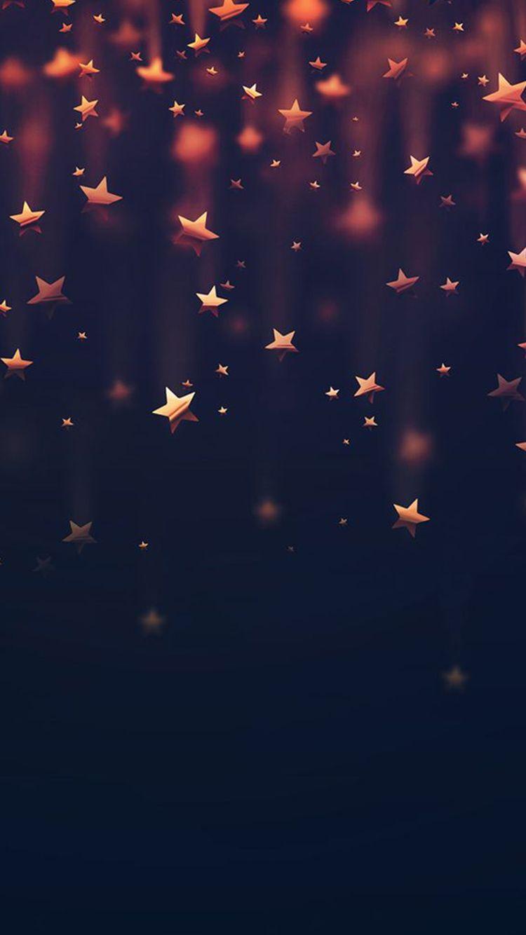 Golden Falling Stars Iphone  Wallpaper