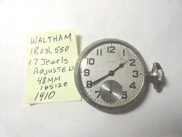 Excited to share the latest addition to my #etsy shop: 1910 Waltham Pocket Watch 17 Jewel 16 Size or 48mm Running http://etsy.me/2EDQ4JF #accessories #watch #pocketwatch #mechanical #antique #running #waltham #17jewel #kayesvintagejewelry