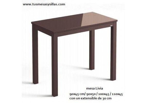 Mesas pequeas de cocina amazing por ejemplo usando una for Mesas de comedor pequea as baratas