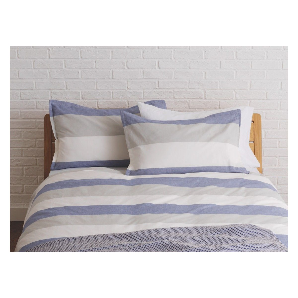 Buy Duvet Cover Boston Blue And Grey Stripe Kingsize Duvet Cover Buy Now At