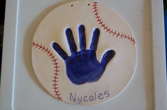 ceramic baby handprint kit online for baby cast in ceramic clay and