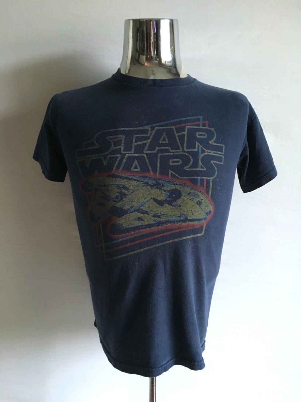Vintage Men's 80's Star Wars, T Shirt, Navy Blue, Short Sleeve (S) by Freshandswanky on Etsy